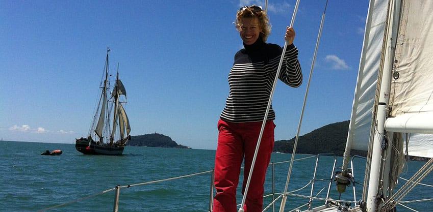 Un aperitivo in barca con marianna De Micheli