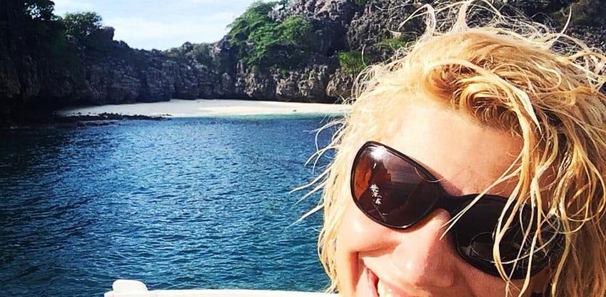 Aperitivo in tutto relax in barca per Marianna De Micheli