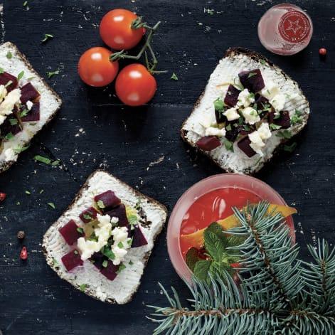 Le ricette e gli abbinamento per l'aperitivo vegetariano di Natale