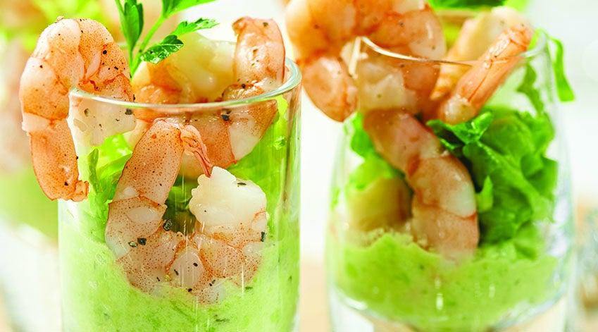 Cocktail di gamberi e avocado, la ricetta di Capodanno
