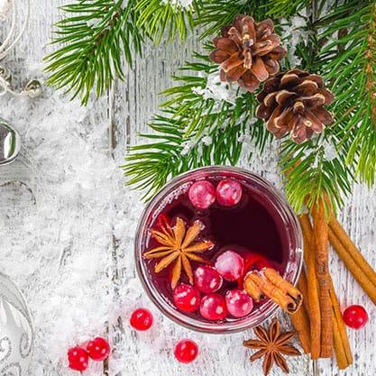 Cocktail natalizi veloci Sanbittèr con tre ingredienti