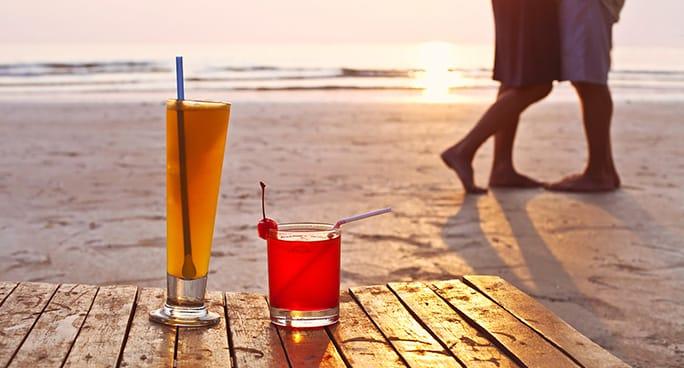 Fine settimana romantico, tra baci e cocktail