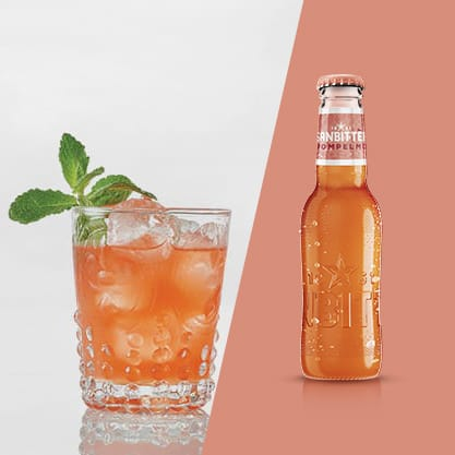 Cocktail con Sanbittèr Pompelmo e succo di lime e aloe vera