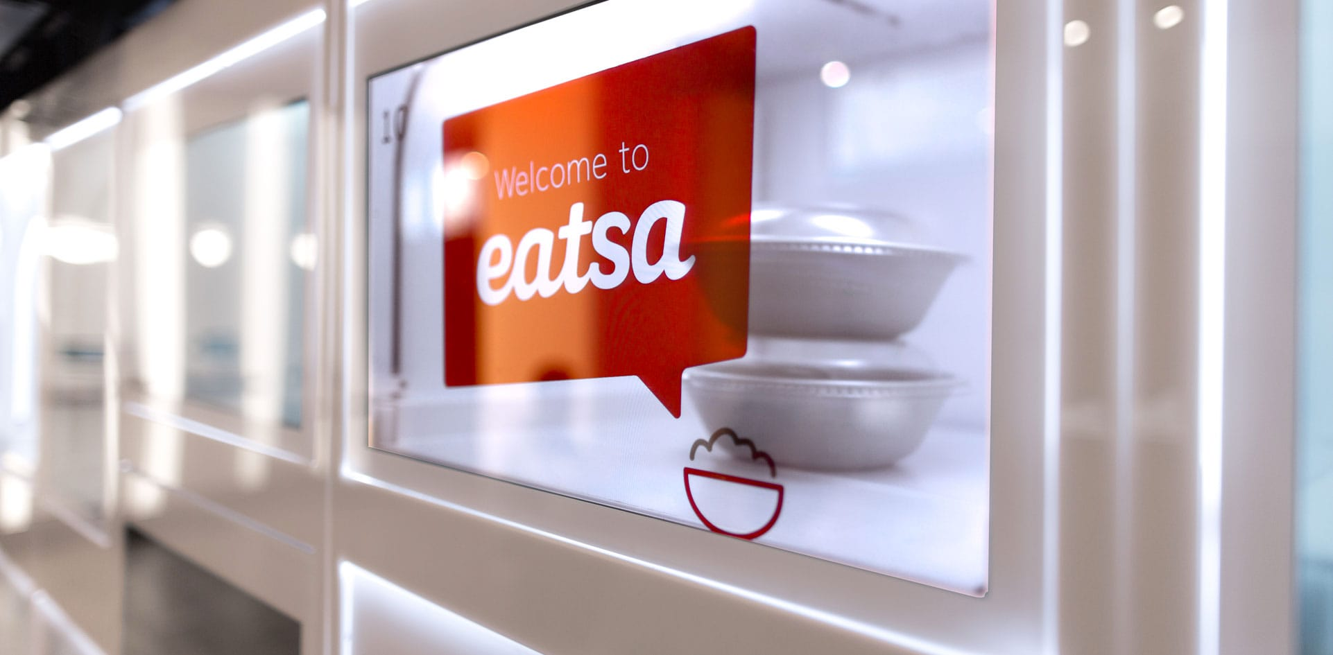 Cubby display per ordinare al ristorante del futuro