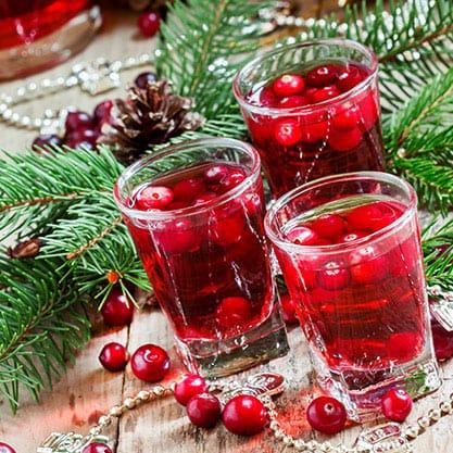 Decorazioni per l'aperitivo di Natale