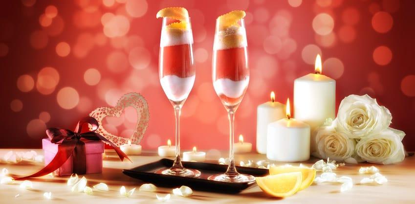 Drink di San Valentino con lychee e Emozioni al Pompelmo Sanbittèr