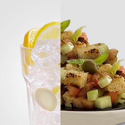 Dry Citrus e coppetta di panzanella, due saporti tipici del Made in Italy per un aperitivo gustoso e tradizionale