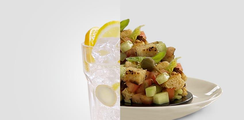 Dry citrus e coppetta di panzanella