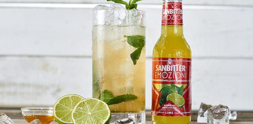 Emozioni Lime Sanbitter per il cocktail analcolico di San Patrizio