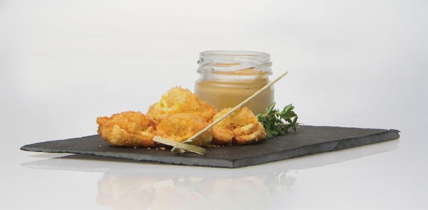Tortellini fritti con senape al miele