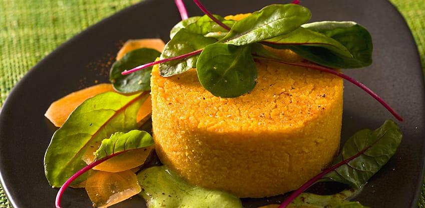 Flan di carote, arancia e cardamomo