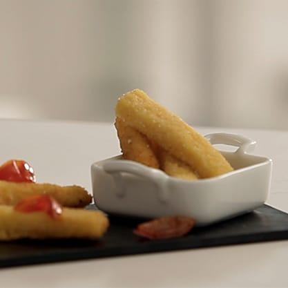 Grissini di scamorza, semplice ricetta con plus della frittura