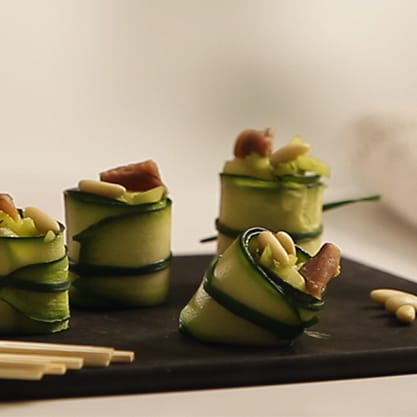 Cannelloni di zucchine per un aperitivo vincente