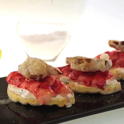 Galletta di gamberi, ricetta delicata per appetizer per aperitivi ricercati e originali