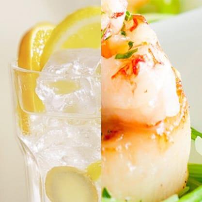Idee per l'aperitivo di primavera: finger food di pesce e dry citrus