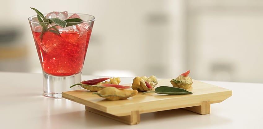 Intervalli Italiani: 38 abbinamenti di cocktail al gusto Sanbittèr e sfiziosi finger food