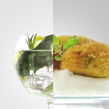 Mediterranean Bitter, il gusto fresco e delicato di Sanbittèr Dry accompagna sfiziose praline di zucchine