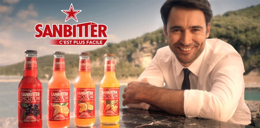Nuovo Spot Sanbittèr Emozioni, aperitivo ready to drink made in Italy