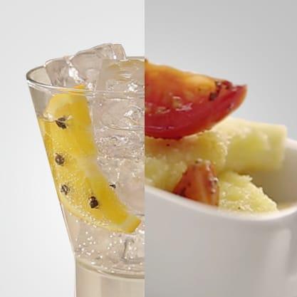 Orange Dry e grissini di scamorza, uno stuzzichino orginale che si sposa con un fresco drink firmato Sanbittèr