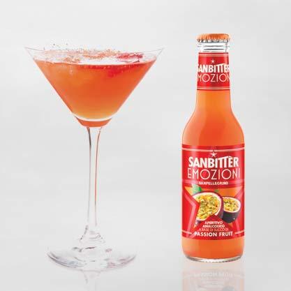 Passion Parties, cocktail a base di Sanbittèr Emozioni Passion Fruit
