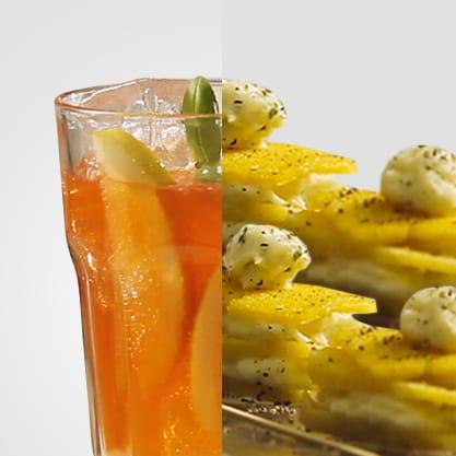 Pession spice, l'aperitivo col sapore vivace delle spezie e una millefoglie croccante di baccalà