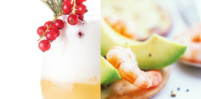 Santa Claus e Tartine gamberetti e avocado