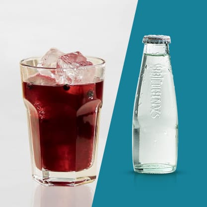 Cocktail al mirtillo rosso e Sanbittèr Dry