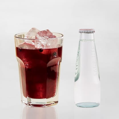 Cocktail al mirtillo rosso e Sanbittèr Dry