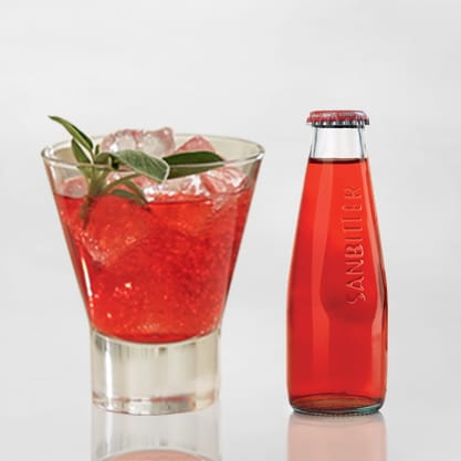 Red Sage cocktail con menta e salvia e Sanbittèr Rosso