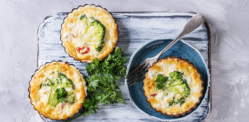 Quiche di broccoli e patate