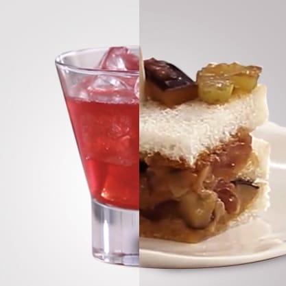 Sanbittèr Red Island e club sandwich di caponata, un aperitivo originale con sapori classici del Made in Italy