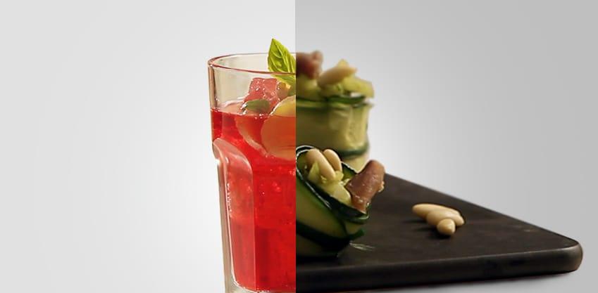 Red Stinger e cannelloni di zucchine