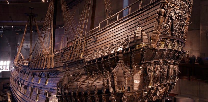 La Regalskeppet Vasa, un galeone svedese che affondò durante il suo viaggio inaugurale nell'agosto del 1628
