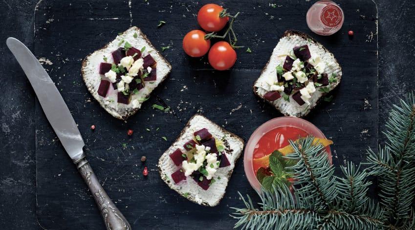 Aperitivo vegetariano di Natale