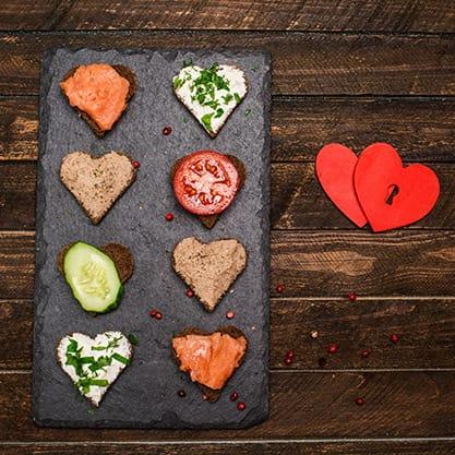 Le ricette per gli stuzzichini di San Valentino