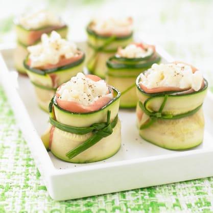 rotolini di zucchine e salmone appetizer