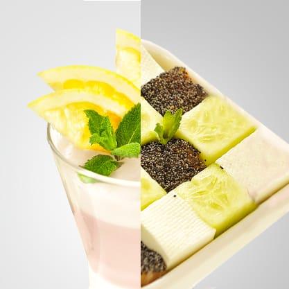 Sorbitter al pompelmo e cube salad, la fragranza di Sanbittèr per un appetizer chic