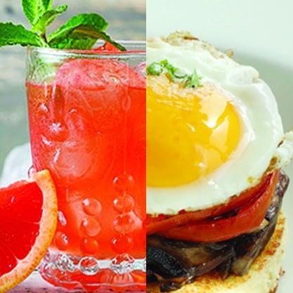 Accompagnate al toast ai funghi, pomodoro e uovo il cocktail Sanbittèr Grape Bitter