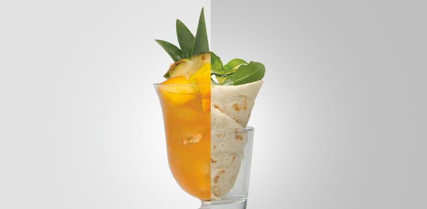 Tropical Bitter Coni di piadina veggy