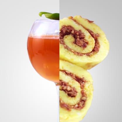 Urban Emotion e girelle colorate, un aperitivo dolce e frizzante allo stesso tempo con un tocco di pepe rosso